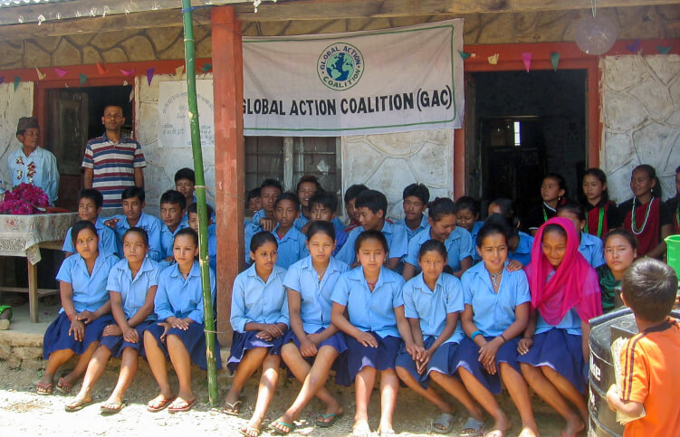 The High School children at Chandi